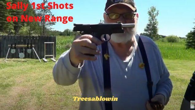 Sally 1st Shots at the New Range