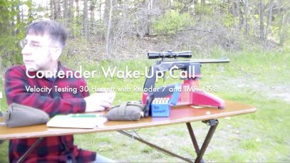 WCChapin   Contender Wake Up Call – Velocity Testing 30 Herrett with Reloder 7 and IMR 4198