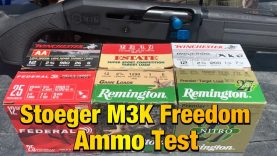 Stoeger M3K Freedom 2 3/4 Cheap Ammo Test