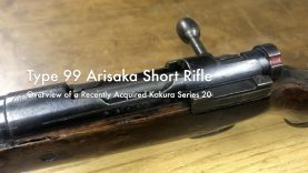 WCChapin | Type 99 Arisaka Short Rifle – Overview of a Recently Acquired Kokura Series 20