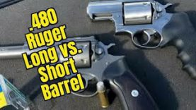 .480 Ruger Short vs. Long Barrel Buffalo Bore 410gr Hardcast Chronograph