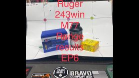 Ruger M77 243win EP6 Range results