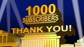 Thank You 1000 Subscribers