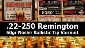 .22-250 Rem – 50gr Nosler BT with Varget & H380