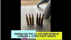 Remington 700 22-250 Rem Riton x1 Conquer 6 24×50 first shots