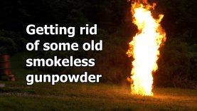 Safe disposal of old smokeless powder