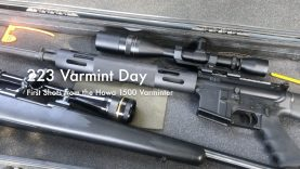 WCChapin | 223 Varmint Day – First Shots from the Howa 1500 Varminter