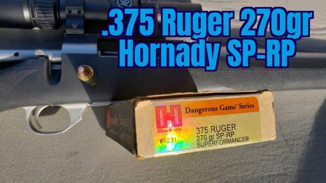 .375 Ruger Hornady Dangerous Game 270gr RN-SP Superformance