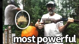 Biggest Most powerful lever action V-S pumpkin