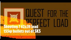 Shooting 7 62×39 lead 155gr bullets out of SKS