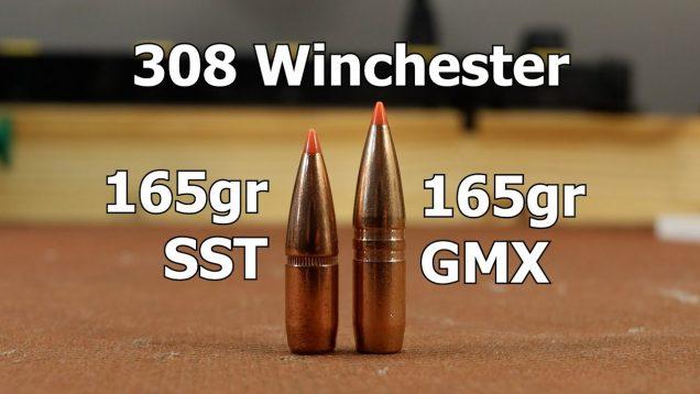 308 Win – 165gr Hornady GMX and SST with AR-Comp
