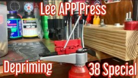 Lee APP Press Depriming 38 Special with Lee Case Feeder and Collator