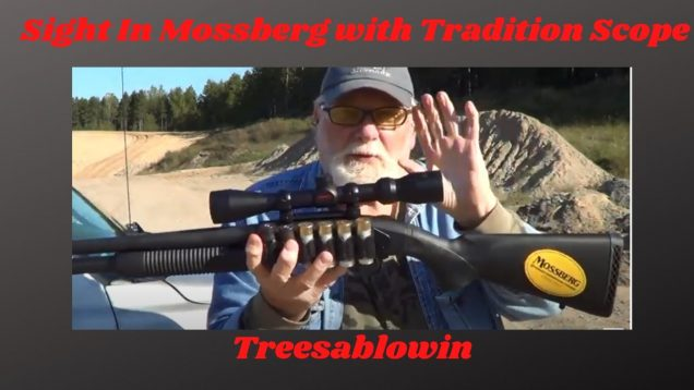 Mossberg 590 with Scope Sight In (big fail)
